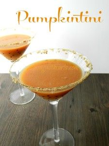 Using fresh pumpkin makes all the difference in this pumpkintini!