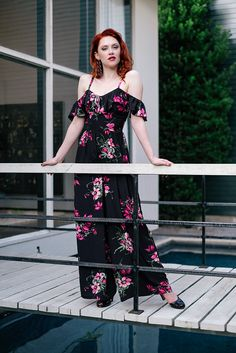 eb13231ce5 Crafted from black rayon crepe de chine with sprays of bright pink flowers  and deep olive