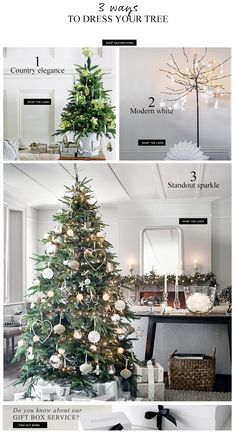 The White Company - 3 ways to dress your tree