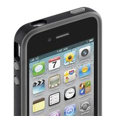 Grip Candy Sheer for iPhone 4/4S - Clear/Blacktop -  TopViewImage