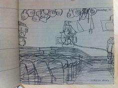 Robert Weaver CBS drawings 1960
