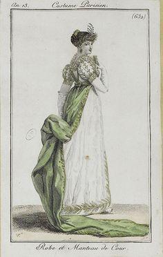 1804-1805 Robe et Manteau de Cour. An 13, Costume Parisien (632)