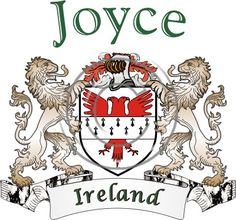 Joyce coat of arms. Irish coat of arms for the surname Joyce from Ireland. View your coat of arms at http://www.theirishrose.com/#top_banner or view the Joyce Family History page at http://www.theirishrose.com/pages.php?pageid=43