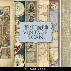 New Freebies Vintage Maps ~ Far Far Hill