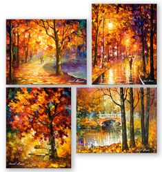 Set of my most favorite fall paintings - today you can have the set of 4 paintings only for $198 include shipping https://afremov.com/My-4-most-favorite-fall-paintings.html?bid=1&partner=20921&utm_medium=/offer&utm_campaign=v-ADD-YOUR&utm_source=s-offer