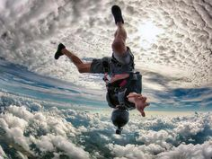 Skydiving over Miami.