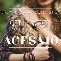 Shop www.puravidabracelets.com Use coupon code ACESA10 to save 10% off your entire purchase #puravida #puravidabracelets #fashion #jewelry #costarica #boho #clothes