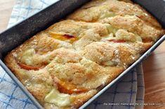 Peaches & cream cheese cake