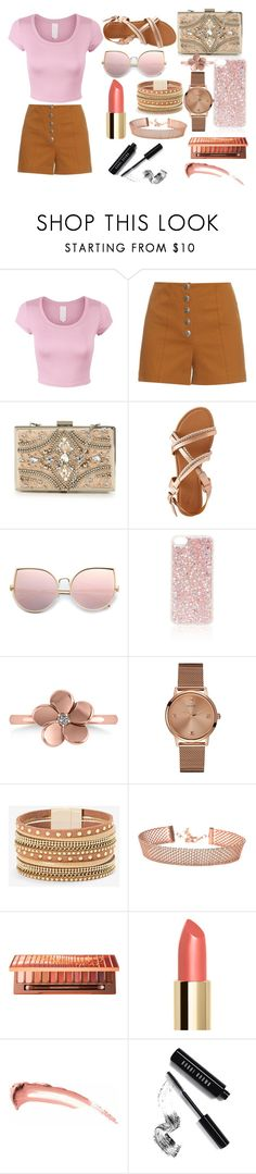 outfit by aletraghetti on Polyvore featuring moda, Sonia Rykiel, Charlotte Russe, Forever Unique, Allurez, GUESS, White House Black Market, Topshop, Urban Decay and Bobbi Brown Cosmetics