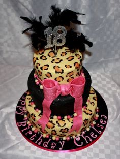 Art Xtra Special Cakes: 18th Birthday Leopard skin cake annalynne-s-cheetah-shower