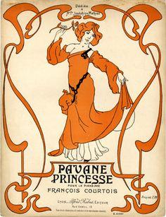 Pavane Princesse, s.d. (ill.: S. Diosi); ref. 9891 www.italialiberty.it/theworldartnouveau