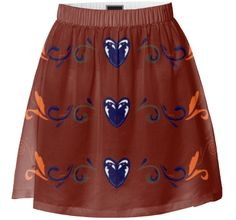 Checkout this design on Summer Skirts, Vintage Skirt, Custom Made, Lady, Brown, Blue, Collection, Shopping, Design