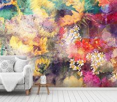 Wallpaper Paste, Paper Wallpaper, Wallpaper Decor, Wallpaper Online, Self Adhesive Wallpaper, Peel And Stick Wallpaper, 3d Wall Murals, Forest Wallpaper, Rainbow Flowers