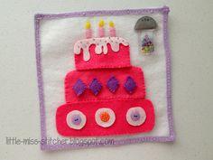 Little Miss Stitcher: The Little Sister Quiet Book: Build a Cake