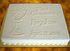 Simple+First+Communion+Cakes | cakes you may also like jungle sheet cake alligator two tier cake ...