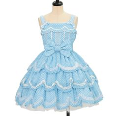 ♡ Angelic pretty ♡ Dot cute scalloped jumper skirt http://www.wunderwelt.jp/products/detail10984.html ☆ ·.. · ° ☆ How to order ☆ ·.. · ° ☆ http://www.wunderwelt.jp/user_data/shoppingguide-eng ☆ ·.. · ☆ Japanese Vintage Lolita clothing shop Wunderwelt ☆ ·.. · ☆