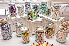 Rustic, Vintage, Barn Wedding decor :  wedding barn centerpieces decor rustic vintage Candy Bar