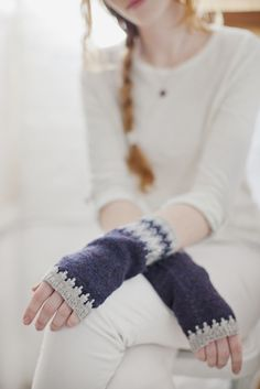 hege mitts :: colorwork armwarmers:: Brooklyn Tweed