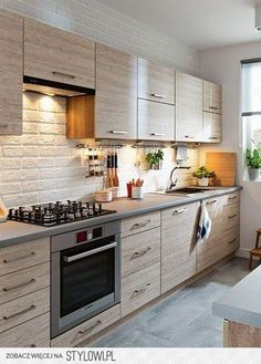 pl – Odkrywaj, kolekcjonuj, kupuj – My All Pin Page Kitchen Room Design, Modern Kitchen Cabinets, Kitchen Cabinet Design, Modern Kitchen Design, Home Decor Kitchen, Rustic Kitchen, Interior Design Kitchen, Home Kitchens, Kitchen Modular