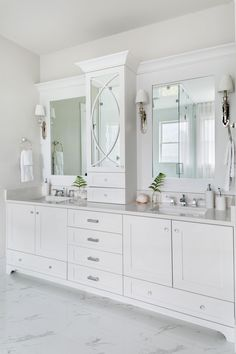 Pink and Navy Master Bedroom + Ensuite; Bathroom Renos, Bathroom Interior, Master Bathroom, Bathroom Vanity Designs, Bathroom Ideas, Bathroom Vanities, Transitional House, Transitional Lighting, Transitional Bedroom