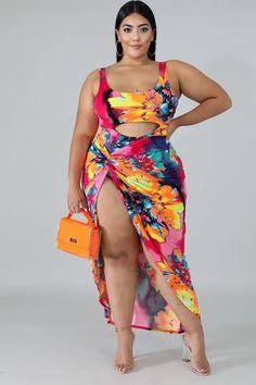 Sexy Fashion Printed Swimsuit – NV Plus Size Thick Girl Fashion, Plus Size Fashion For Women, Curvy Women Fashion, Curvy Girl Lingerie, Plus Size Inspiration, Curvy Girl Outfits, Plus Size Beauty, Plus Size Swimwear, Fashion Prints