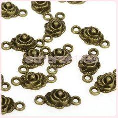 Vintage Retro Bronze Tone Flower Connectors Jewelry Making Findings 20p 18 x 9mm | eBay