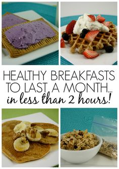 Healthy Breakfasts to Last a Month...in Less than 2 Hours!! Feel Great in 8