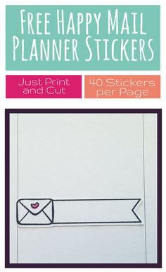 Free Happy Mail Planner Stickers - Free planner printable via @goodstuffmama