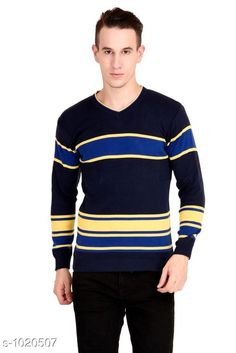 Sweaters Trendy Woolen  Blend Sweater Fabric: Woolen   Sleeves: Full Sleeves Are Included Size:  L (Refer Size Chart) Length: Refer Size Chart Type: Stitched Description: It Has 1 Piece Of Men's Sweater Work Printed Country of Origin: India Sizes Available: M, L   Catalog Rating: ★4.2 (470)  Catalog Name: Supiriyo Men's Trendy Woolen Sweaters Vol 1 CatalogID_123119 C70-SC1208 Code: 135-1020507-