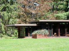 Frank Lloyd Wright's Weltzheimer-Johnson House (1948) in Oberlin, Ohio