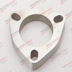 """[ 27% OFF ] 2.25"""" 3 Bolt SS304 Slotted Flange Exhaust Downpipe Pipe Catback Header 1/2""""Thick"""