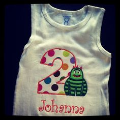 Who loves yo gabba gabba!?? $20 for almost any personalized shirt!! #etsy #custom #birthdaygirll #birthdayboutique #personalized #yogabbagabba #brobee - @the_tiny_closet- #webstagram