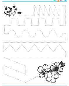 ladybug trace worksheet  |   Crafts and Worksheets for Preschool,Toddler and Kindergarten