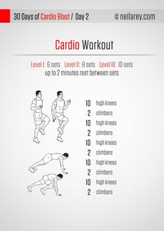 No-running cardio program (body-weight exercises)