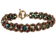 Renaissance Bracelet schema and component list. Simple RAW w/easy embellishment ~ Seed Bead Tutorials