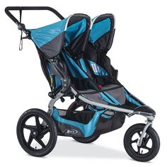 B 2016 Revolution Flex Duallie Jogging Stroller - Lagoon - If you're traveling with two, take our word for it and go with the B.B 2016 Revolution Flex Duallie Jogging Stroller - Lagoon . Whether you're running. Bob Stroller, Jogging Stroller, Running Strollers, Best Double Stroller, Double Strollers, Baby Jogger, Travel System, Baby Gear, Baby Car Seats