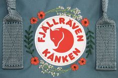 Embroidered Fjallraven Kanken - Best DIY and Crafts 2019 Diy Embroidery Flowers, Diy Embroidery Designs, Cactus Embroidery, Embroidery Stitches Tutorial, Embroidery Bags, Simple Embroidery, Embroidery Techniques, Embroidered Flowers, Modern Embroidery