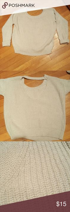 Cut Out Back Chunky Sweater Beautiful unique chunky sweater with cut out back. Boxy fit. NWOT Express Sweaters Crew & Scoop Necks