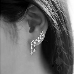 Women's Stud Earrings Tassel Costume Jewelry Fashion Alloy Leaf Jewelry For Party Birthday Daily 2017 - €2.7