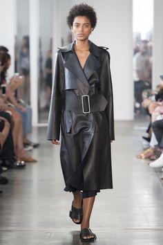 Dion Lee Spring 2017 Ready-to-Wear Fashion Show - Alécia Morais - belt, pocket detail