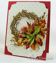 MB Twig Die Wreath w/leaves  absolutely Stunning card and of course it is Kittie.