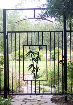This gate serves as the doorway to my Zen meditation garden. I find quiet and inspiration here. There is a pond where a heron visits regularly.