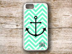 Mint Cute iPhone 4 case Anchor phone case iPhone by ToGildTheLily, $16.99