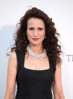 At the amfAR Gala in Cannes, MacDowell owned the red carpet with the same Botticelli brunette curls that helped launch her career. Coachella, Curled Hairstyles, Wedding Hairstyles, Andie Macdowell, Cinema Actress, Glamour Shots, Festival Makeup, Ageless Beauty, Makeup Inspiration