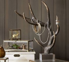 This antler jewelry stand from Pottery Barn gives any room in your house the perfect amount of rustic feel while organizing your favorite accessories. What more could you ask for?!