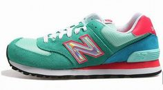 Joes New Balance 574 WL574HPB Green Red Blue Womens Shoes