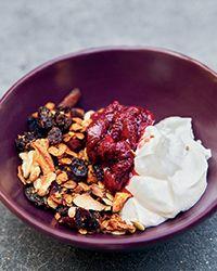 Nutty Granola with Strawberry Compote and Greek Yogurt Recipe - Zoe Nathan | Food & Wine