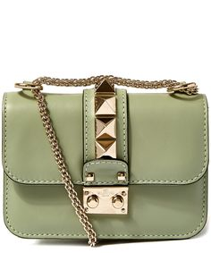 Valentino Mini Green Rockstud Shoulder Bag | Accessories | Liberty.co.uk