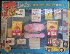 IRWIN: 1968 Barbie Shops By Phone Playset #Vintage #Toys