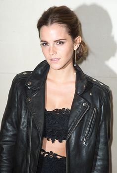 Emma Watson's low chignon is an incredibly versatile wedding hairstyle | Brides.com